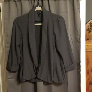 Torrid jacket, gray with pockets size 00